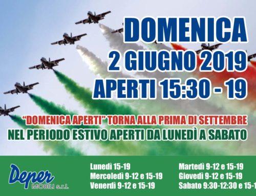DOMENICA 2 GIUGNO 2019